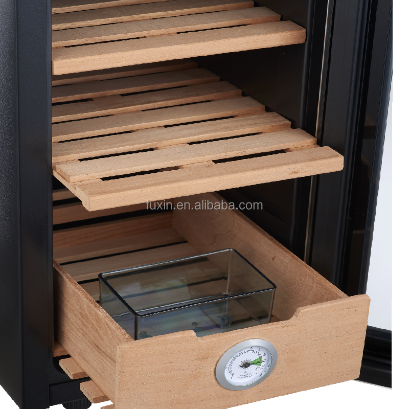 Luxury Thermoelectric Stainless Steel Cigar & Wine Cooler