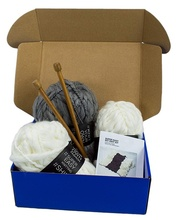 Super easy DIY knit kit packaging foldable <strong>corrugated</strong> <strong>shipping</strong> <strong>box</strong>