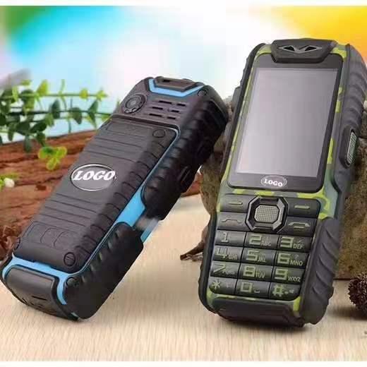"""A6 rugged mobile phone 2.4 """"TFT Dual SIM Alto Falante Lanterna Ao Ar Livre à prova de Choque Celular"""
