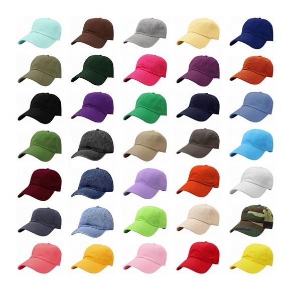 Ayarlanabilir yüksek kaliteli klasik 6 Panel toptan % 100% pamuk özel düz boş Golf beyzbol spor kapaklar baba şapka erkekler için