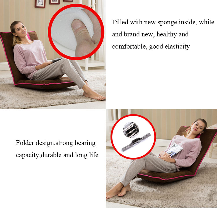 Indoor Portable Multi-angle Adjustable Backrest Recliner Seat foldable Floor Seating Chair Living Room Sofas