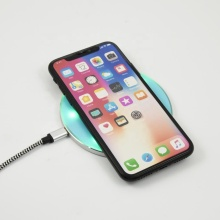 2020 Hot Jual LED Light Wireless Charger Cepat Qi Standard Wireless Charger untuk Ponsel