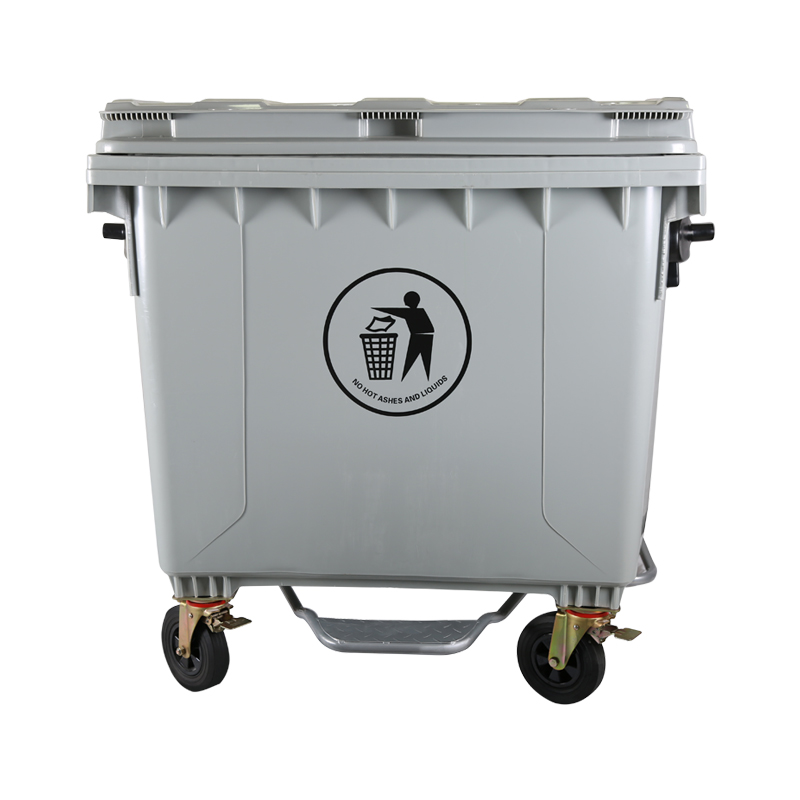 plastic trash container 1100 liters dustbin cover pedal lid waste bins