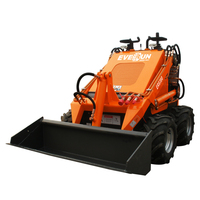 2019 EVERUN ER380 Mini Rubber Skid Steer Loader for Garden Work