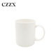 Durable blank different size round ceramic white sublimation porcelain milk mug wholesale for home hotel restaurant