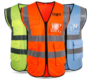2020 Customized Hi Vis security safety company logo running best reflective vest