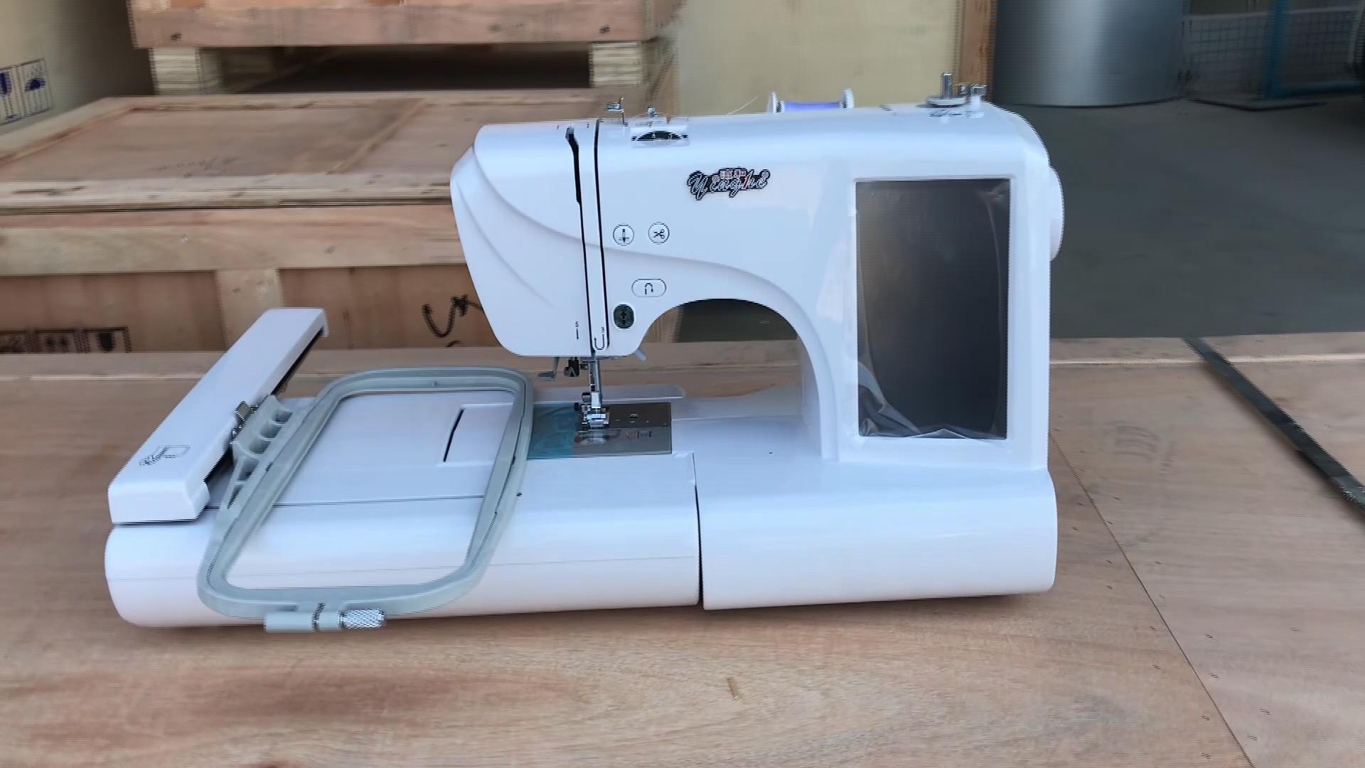Per uso domestico Computerizzata Macchina Da Cucire uso Domestico/una testa di un ago di piccolo formato macchina da Ricamo