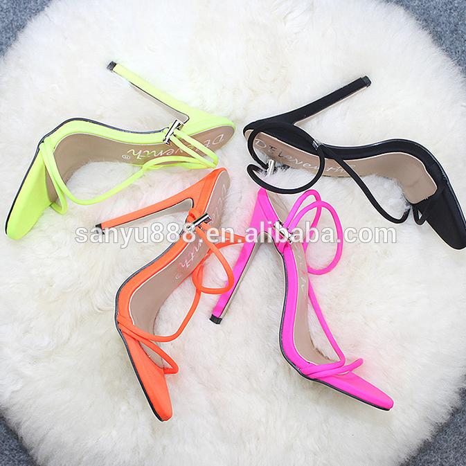 New European Fashion Fluorescent Zapatos De Mujer Summer Stiletto High Heels for Women Pumps shoes