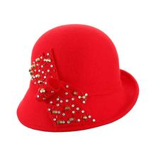 Commercio all'ingrosso Cappello A Cloche con auto feltro floreale trim