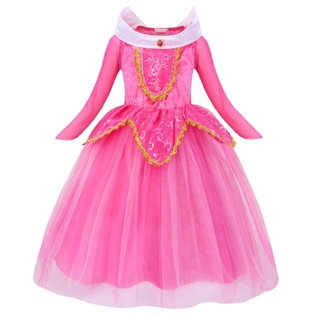 Sleeping Beauty Girl Aurora Princess Dress performance Children's Dress