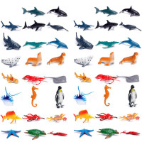 2019 Hot Sale Mini Sea World Dolphin Shark Cartoon Model Cake Decoration Action Figure Sea Animal Figure