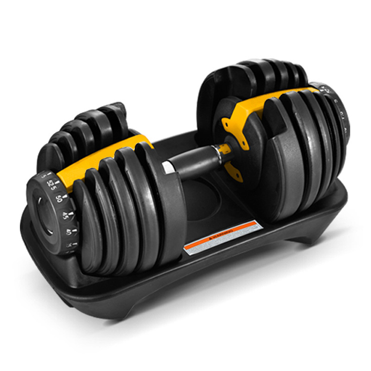 Gym workout man power weight lifting training automatic adjustable dumbbell 40kg 90lbs