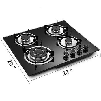 Tempered Glass Cooker Part 4 burner Digital Gas Stove cheap price