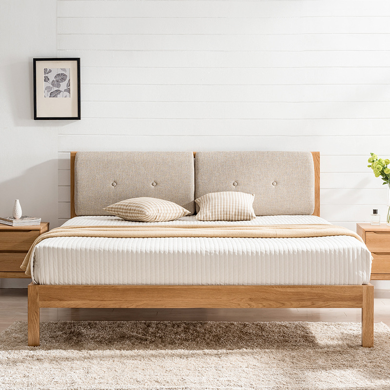 product-BoomDear Wood-factory direct price good quality simple new design solid wood bed home furnit