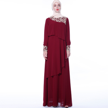 New Design Chiffon Maxi Muslim Dress Abaya