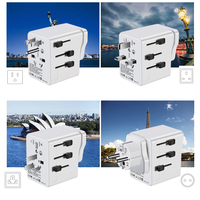 Factory free shipping new hot sell 3 pin uk to germany socket plug travel adapter for Promotional Gift