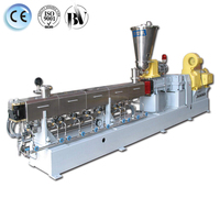 pp pe plastic and rubber double screw extruder machine 16mm