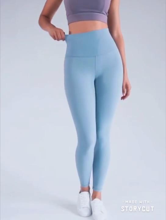 Celana Yoga Wanita Ketat Gym, Celana Legging Olahraga Lari Legging Fitness Elastis Baju Lari
