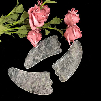 Wholesale Natural Crystal Clear Quartz Guasha Board For Face Neck Massage Healing Crystal For Women Gift Wicca Decor