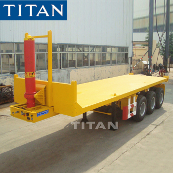 TITAN end dump tipper trailer 20ft 40ft container tipping flatbed semi trailer