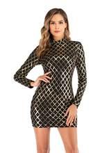 YIDINGZS вечернее платье с блестками и длинным рукавом для выпускного вечера 2020 Новое поступление YD21690(China)