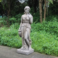 garden decoration concrete fiberglass woman Greek statue