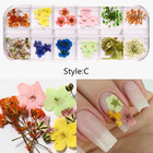 Flowers Nail Stickers 3d 3d Misscheering Mix Dried Flowers Nail Decorations Jewelry Natural Floral Leaf Stickers 3D Nail Art Designs Polish Manicure