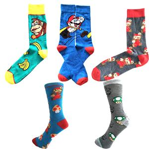 MOQ 12pairs  personality funny happy comics cartoon socks men cotton custom