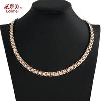 Factory direct rose gold health titanium steel germanium magnet magnetic necklace women