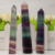 Decorative Chakras Gift Crystal Quartz Single Tower Obelisk Colorful Green Obelisk Rainbow Fluorite Point
