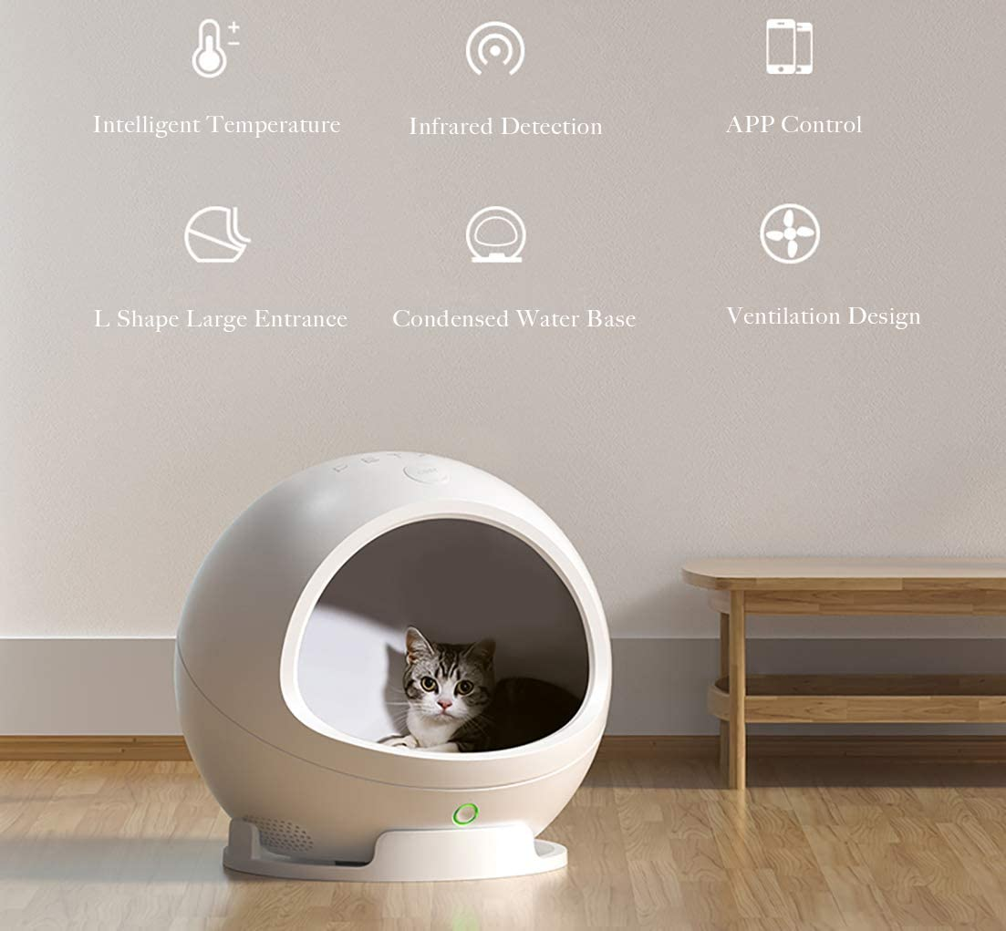 PETKIT Upgraded Luxury Indoor WIFI Smart Air-conditioner Pet Cat Dog House for small animal