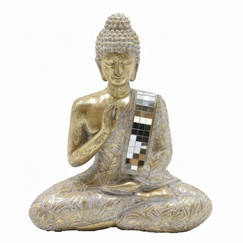 Resin Gold Thai Buddha Statue