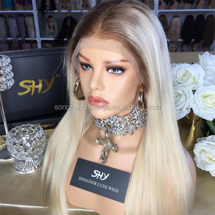 Shy Lace Wigs Blond Wigs Human Hair Lace Front Two Tone Virgin Lace Wigs