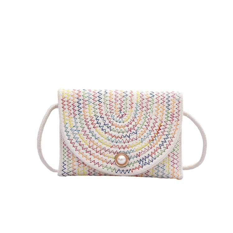 Hot Sale 2020 New Fashion Casual Small Weaving Handbag Pearl Women Crossbody Shoulder Bag