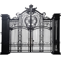 Luxury house wrought iron main gate designs