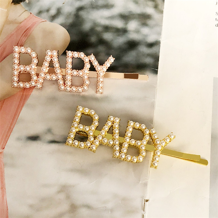 Fashion Rainbow Star Words Customized Letter Hair Pin Fancy Multicolor Colorful Star Rhinestone Hair Bobby Pins