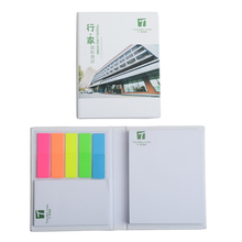 Promo Gerecycled Papier Notebook Met Fluorescerend Papier Sticky Notes