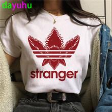 Женская футболка с забавными рисунками Stranger Things Season 4, каваи, мультфильм, лето 2020(China)
