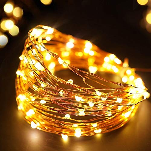 Copper Wire 3AA Waterproof Battery Decorative Curtain Led Outside Christmas Light Fairy Rope String Holiday Light