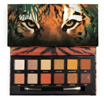 Jingpin Tiger Wolf 12 colors No animal Waterproof Shimmer Matte Eyeshadow Palette