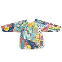 Reusable Washable Long Sleeve PUL Waterproof Baby Apron Bib