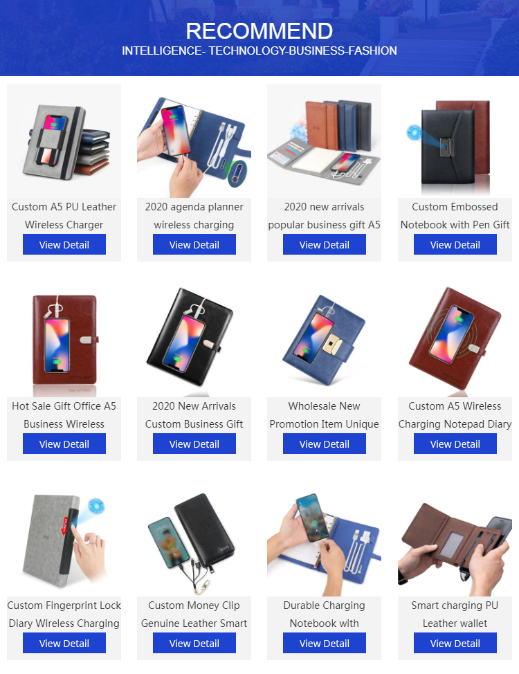 Postitive مذكرات 2020 Eey المنظم الذكية قفل ببصمة الأصبع مذكرات للأعمال