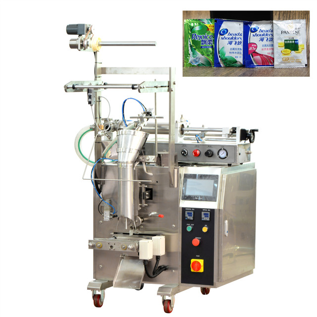 1-50g shampoo liquid sachet fill seal packing machine