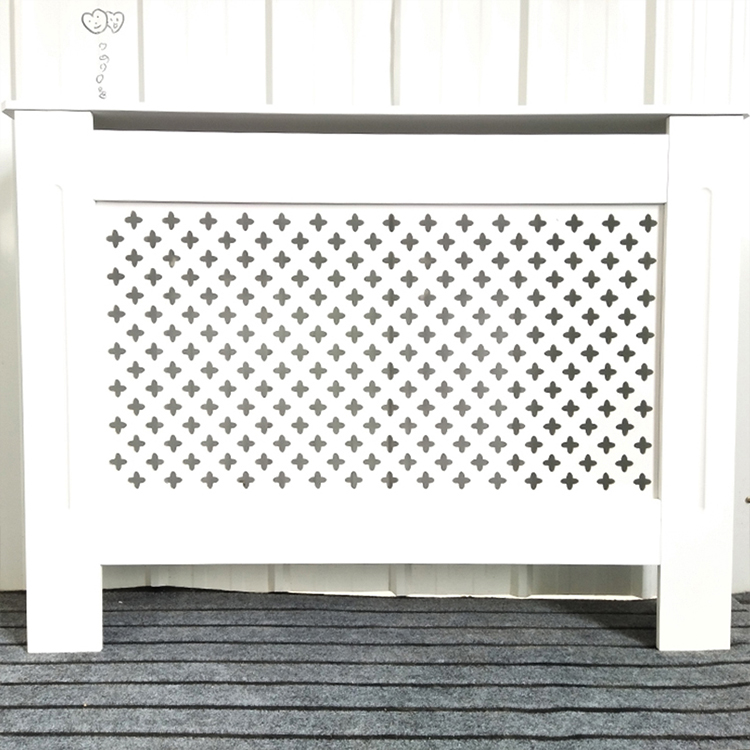 Decoratieve grill wit schilderen radiator top cover