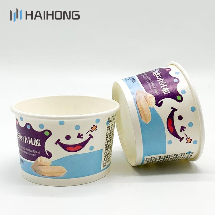 ขายส่งไอศครีมถ้วยชามที่กำหนดเองพิมพ์ไอศครีมถ้วยกระดาษ