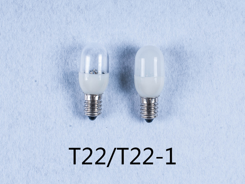 OEM T22 F22 T24 110V 240V 1w E12 E14 led light bulb for candle light and night light wall lamp