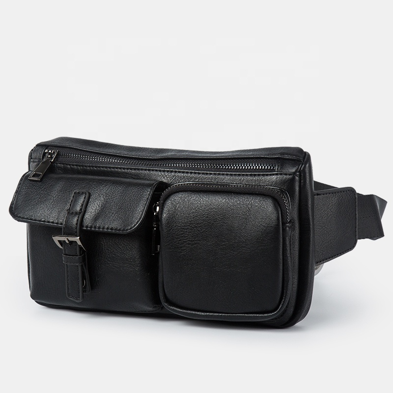 폴로 2020 가장 인기있는 신제품 도매 패션 블랙 어깨 가방 남자 슬림 가슴 가방