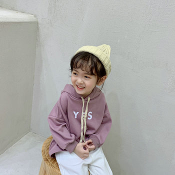 Fall Clothing Winter Children Girls Long Sleeve Kids Autumn Solid Color Coat Children Sweater Hoodies