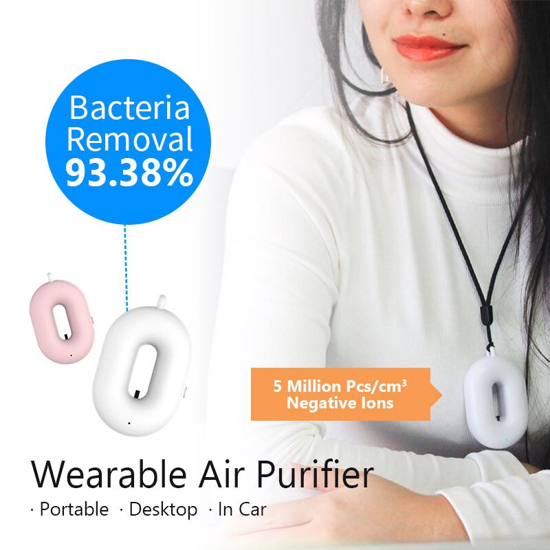 Mini Collier Ioniseur Purificateur D'air Portable UV Purificateur D'air À Ions Négatifs
