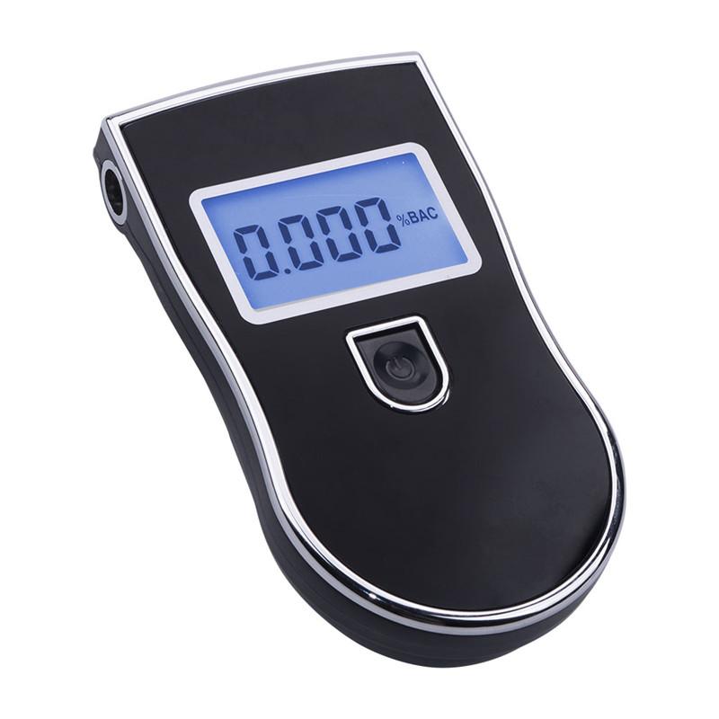 TTE01702 Новый AT819 полицейский черный цифровой анализатор дыхания спирта Тестер автомобильный детектор спиртометр